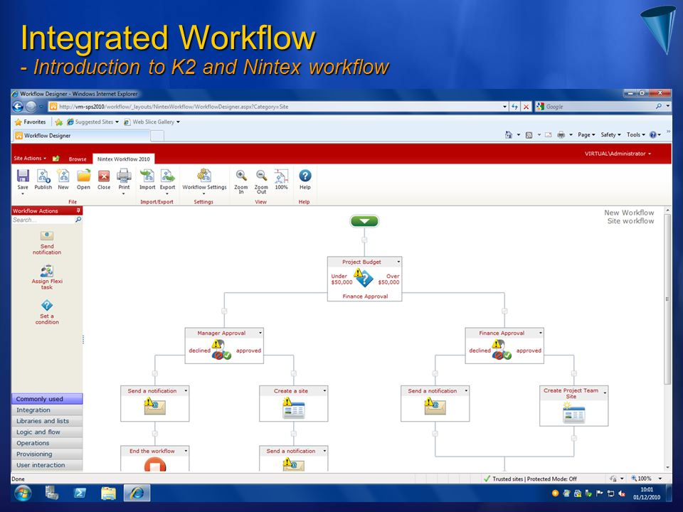 Integrated Workflow - Introduction to K2 and Nintex workflow