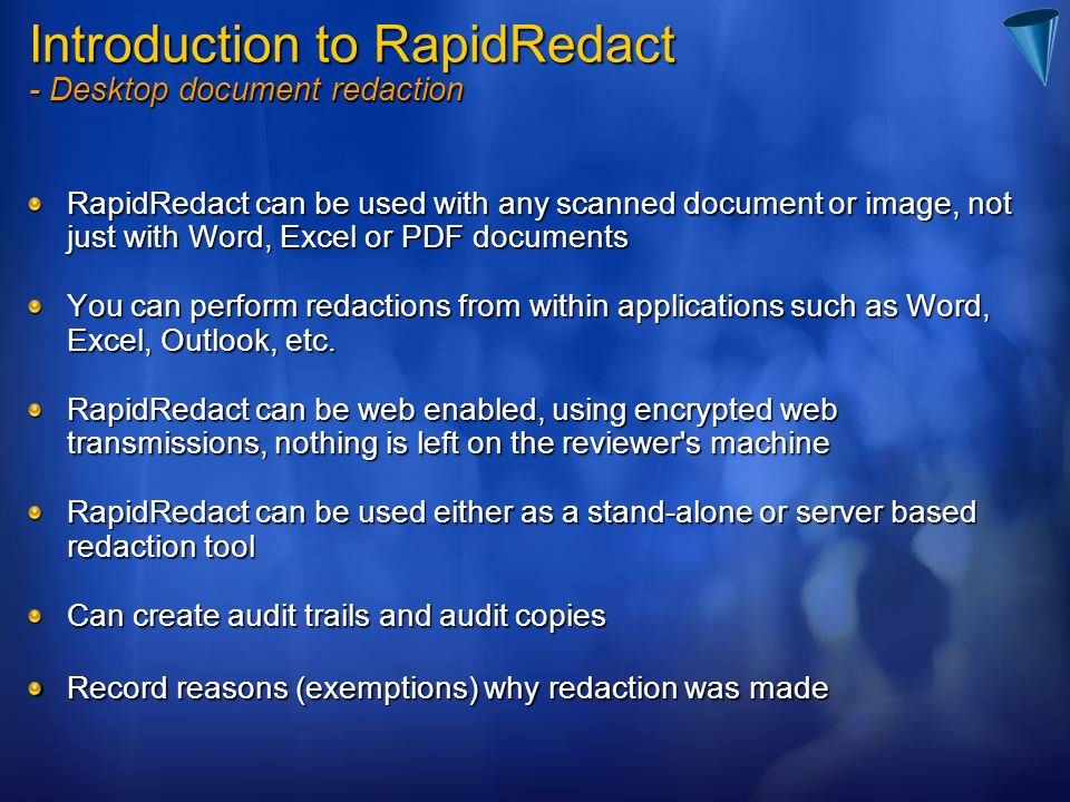 Introduction to RapidRedact - Desktop document redaction