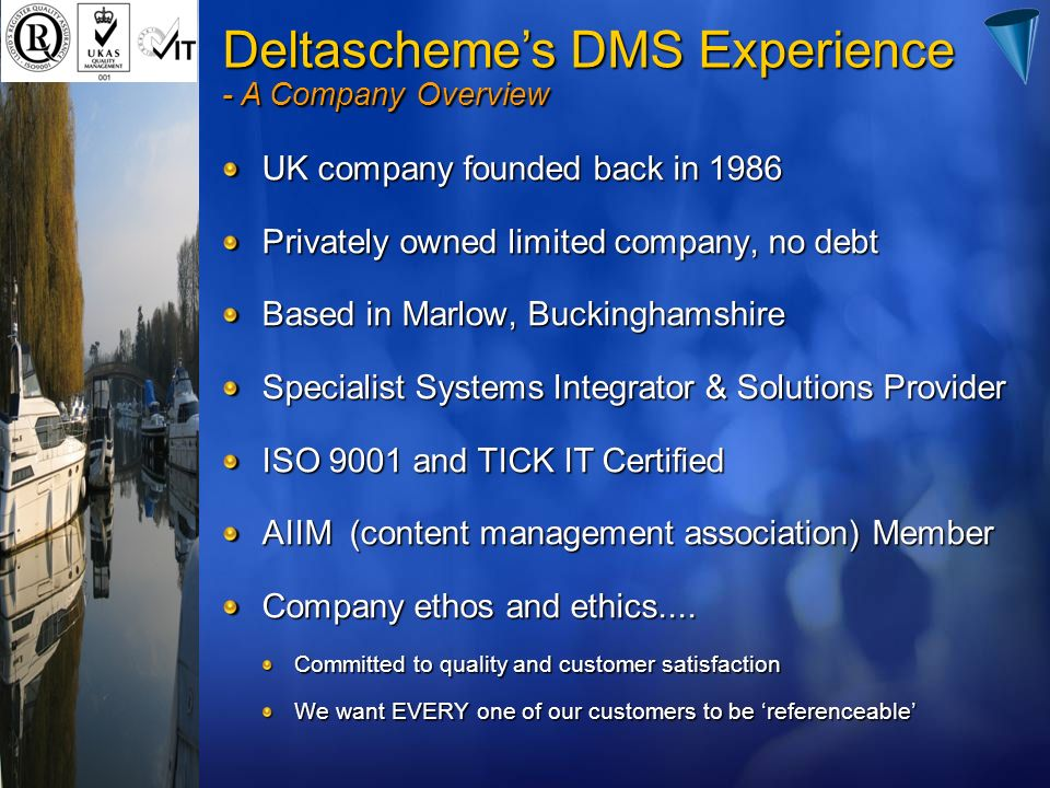 Deltascheme's DMS Experience - A Company Overview
