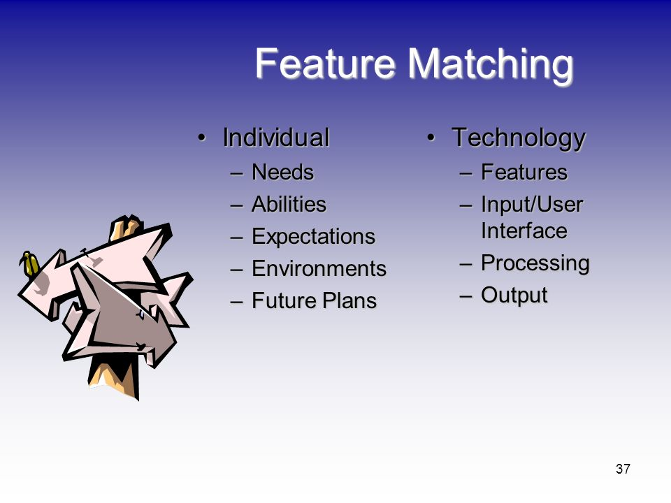 Feature Matching Individual Technology Needs Abilities Expectations