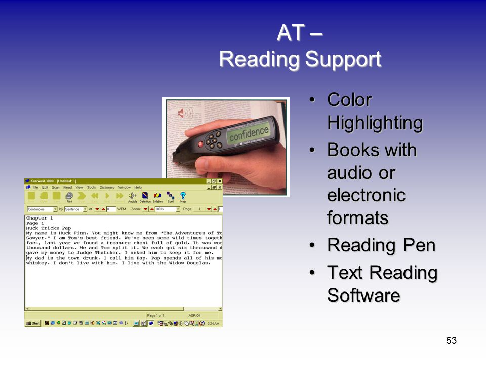 AT – Reading Support Color Highlighting