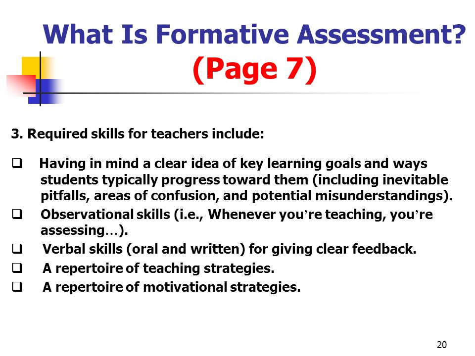 What Is Formative Assessment (Page 7)