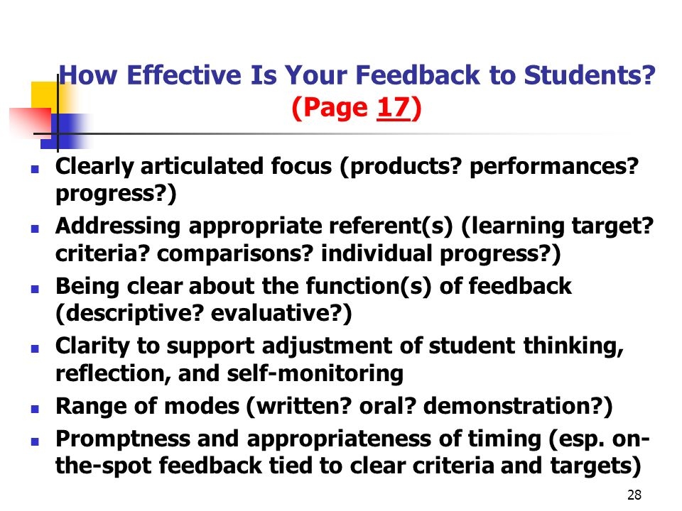 How Effective Is Your Feedback to Students (Page 17)