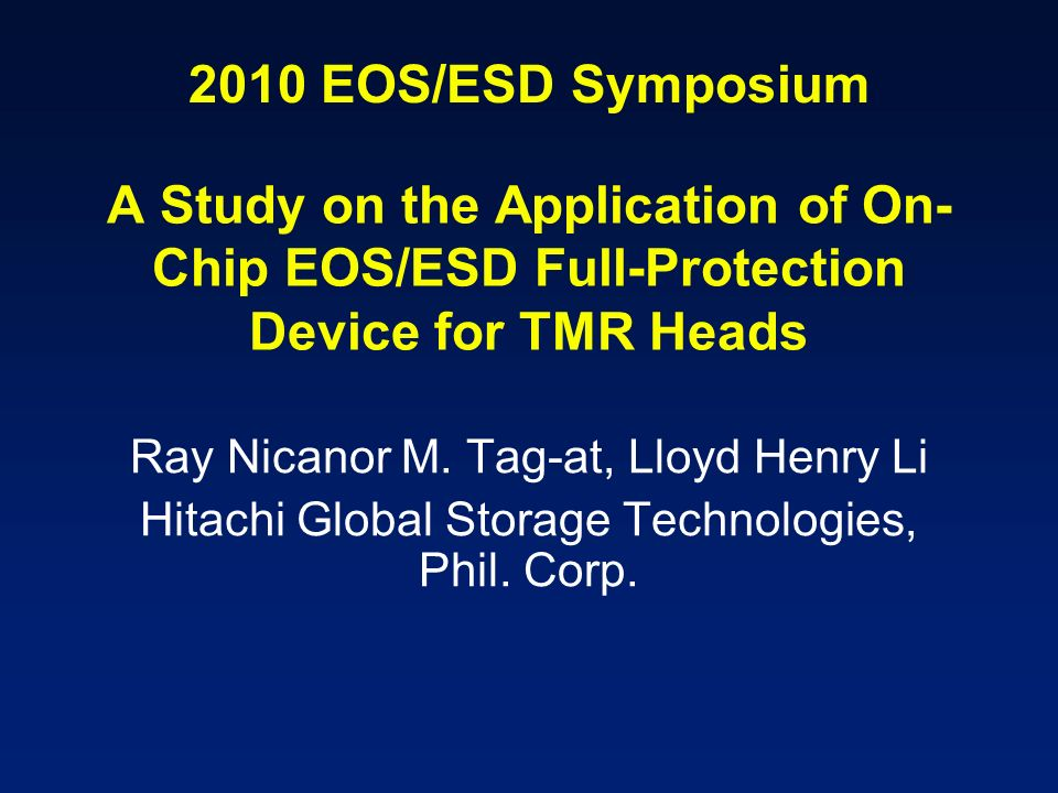 A Study on the Application of On-Chip EOS/ESD Full-Protection Device for TMR Heads