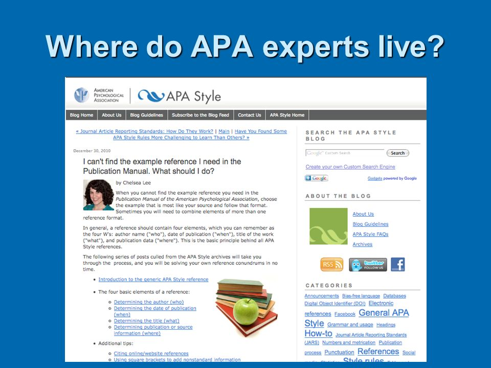 Where do APA experts live