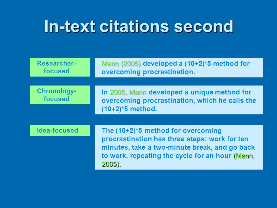 In-text citations second