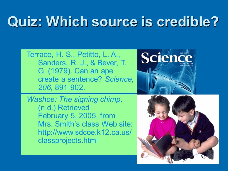Quiz: Which source is credible