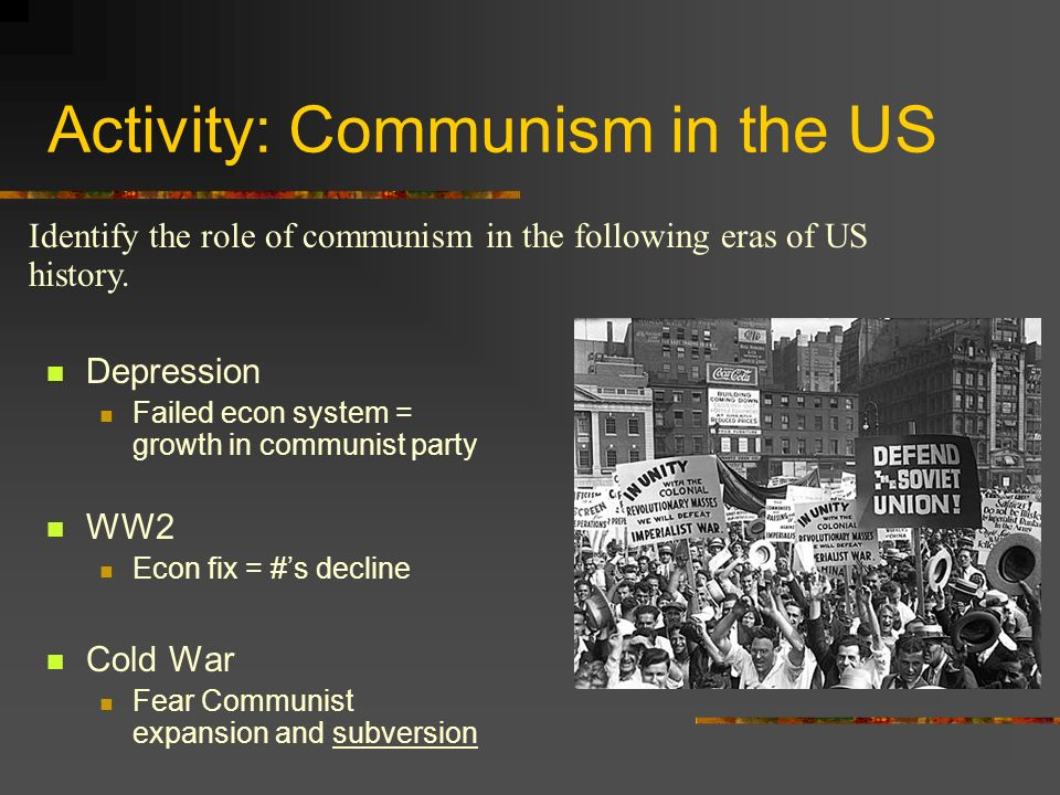 Activity: Communism in the US