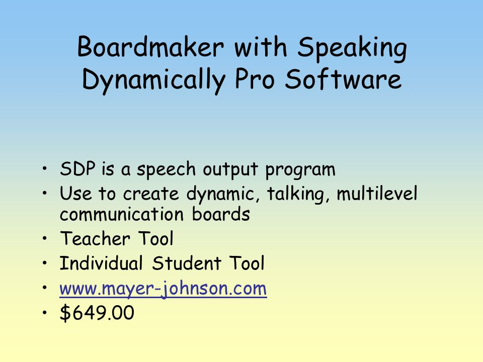 Boardmaker with Speaking Dynamically Pro Software
