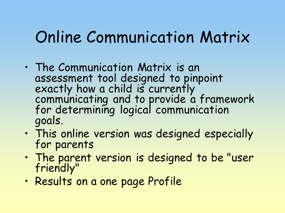 Online Communication Matrix