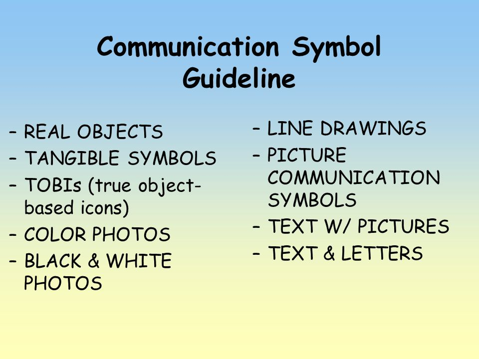 Communication Symbol Guideline