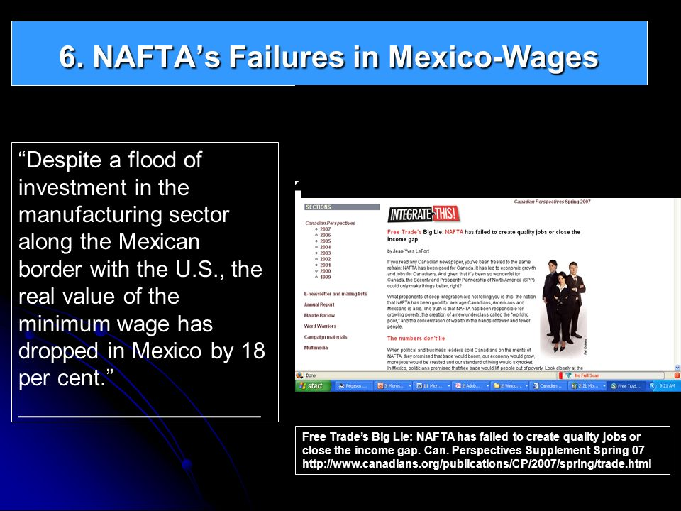 6. NAFTA's Failures in Mexico-Wages