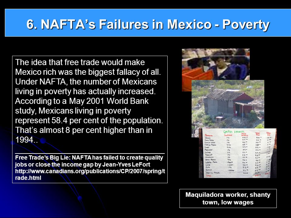 6. NAFTA's Failures in Mexico - Poverty