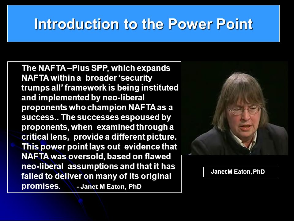 Introduction to the Power Point
