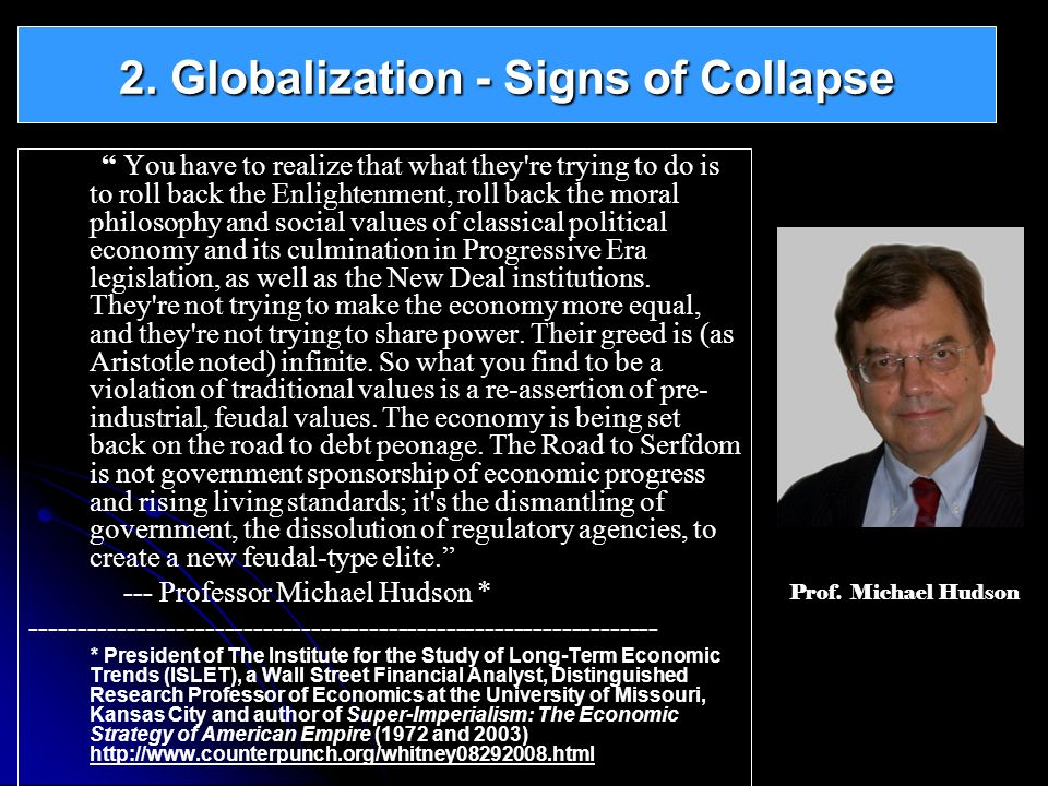 2. Globalization - Signs of Collapse