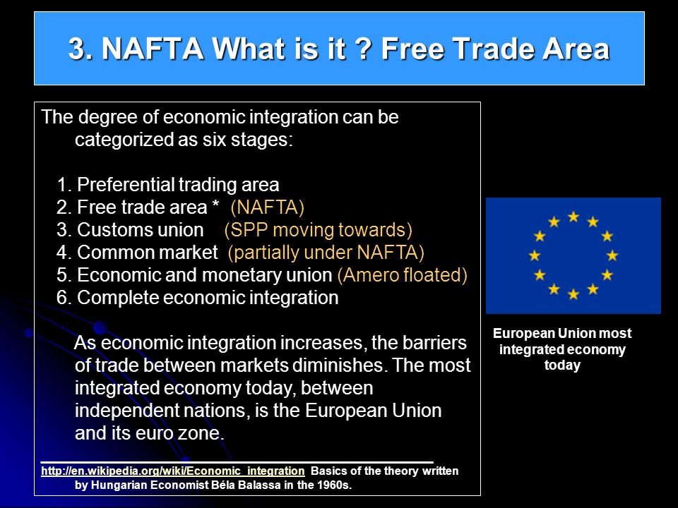 3. NAFTA What is it Free Trade Area