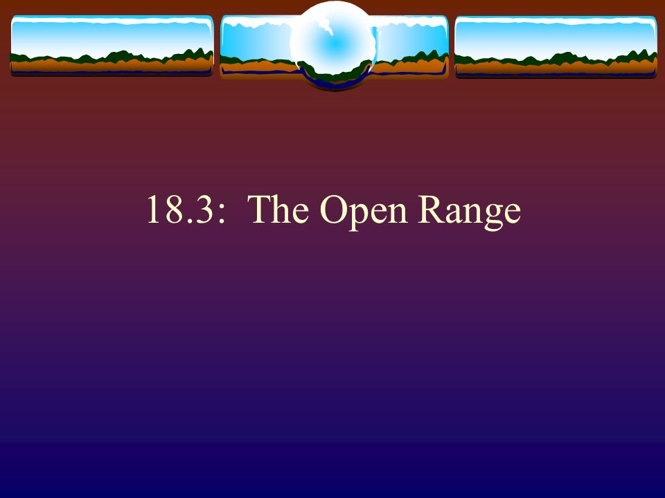 18.3: The Open Range