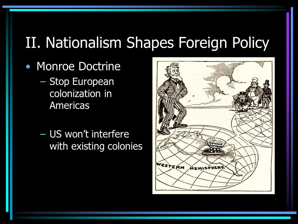 II. Nationalism Shapes Foreign Policy