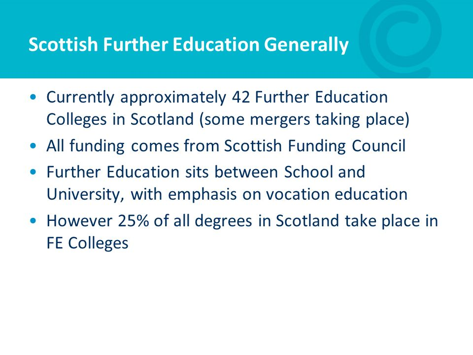 Scottish Further Education Generally