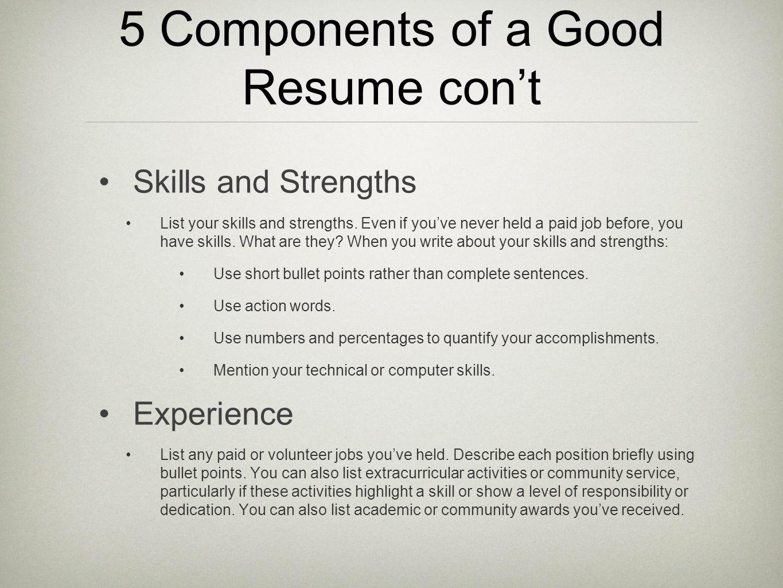 Exelent Strengths For Resume List Ensign - Resume Ideas - namanasa.com