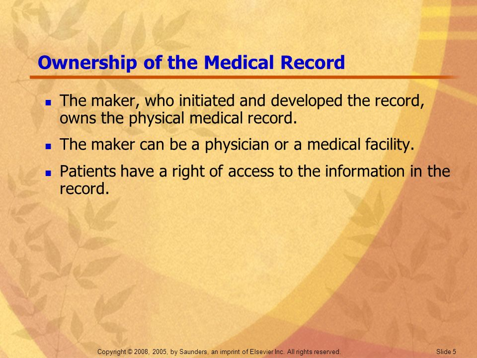Ownership of the Medical Record