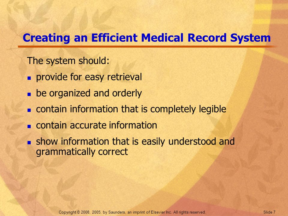 Creating an Efficient Medical Record System