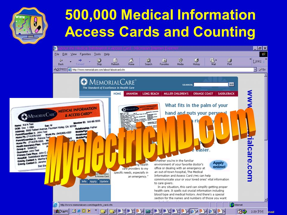 500,000 Medical Information Access Cards and Counting