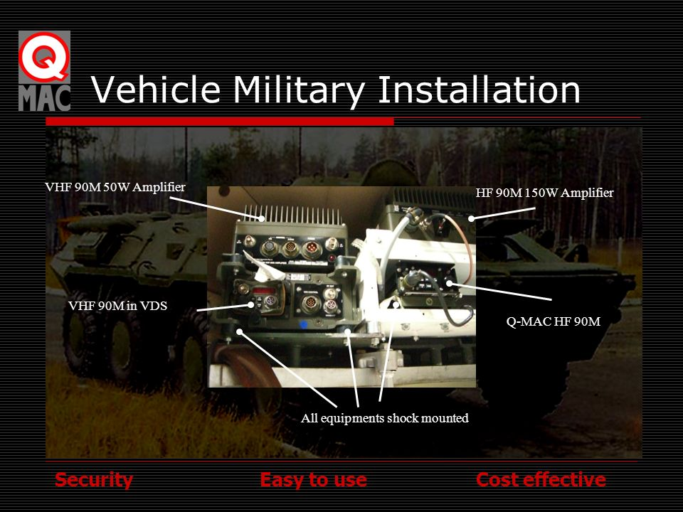 Vehicle Military Installation