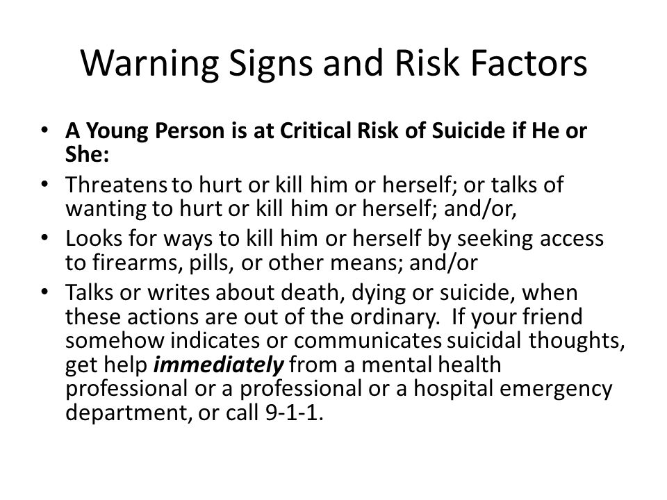 Warning Signs and Risk Factors