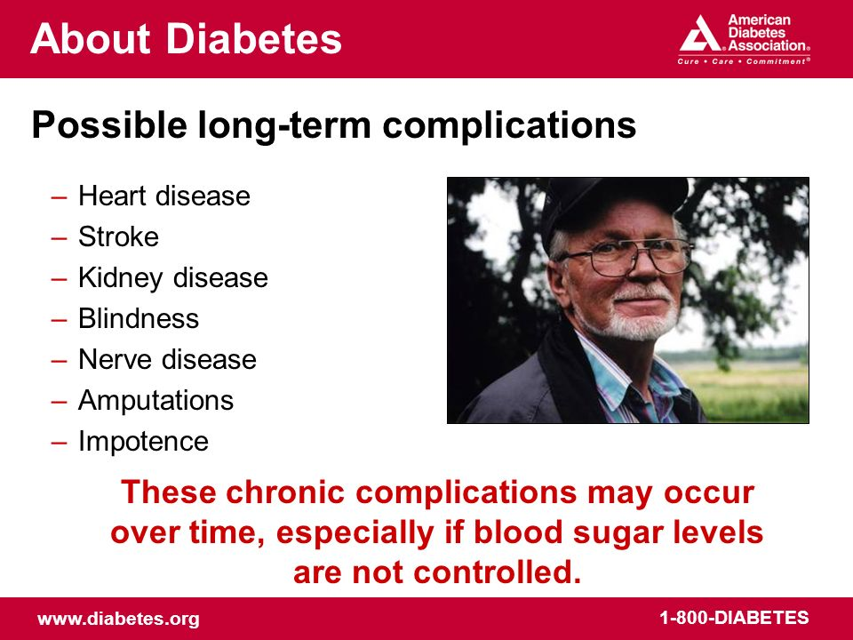 About Diabetes Possible long-term complications