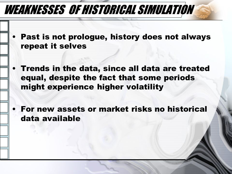 WEAKNESSES OF HISTORICAL SIMULATION