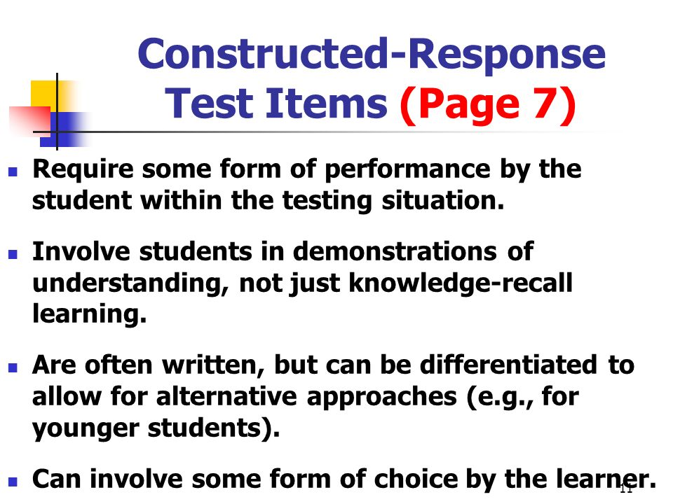 Constructed-Response Test Items (Page 7)