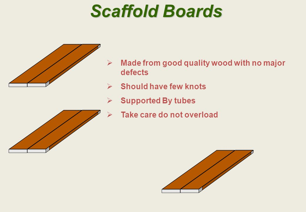 Scaffold Boards Made from good quality wood with no major defects