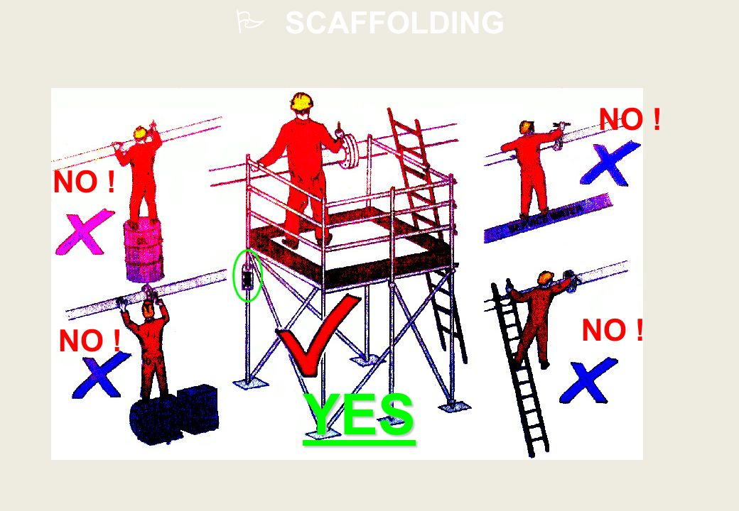 SCAFFOLDING NO ! NO ! NO ! NO ! YES