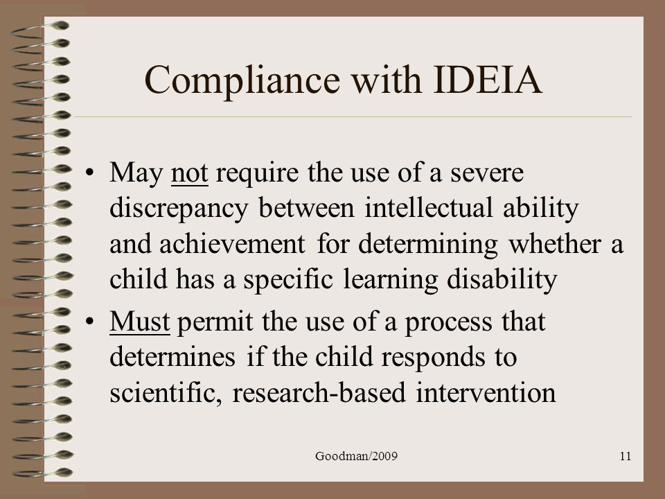 Compliance with IDEIA