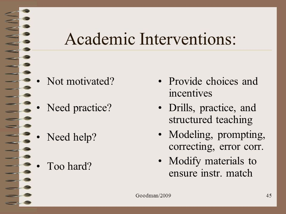 Academic Interventions: