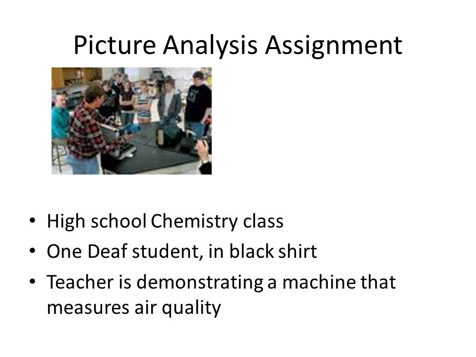 Picture Analysis Assignment