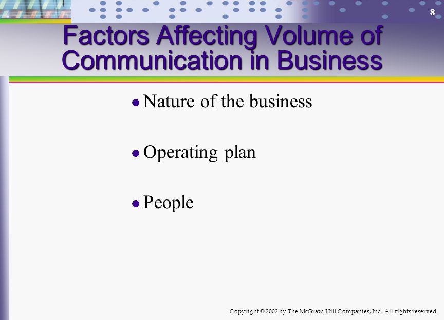 Factors Affecting Volume of Communication in Business