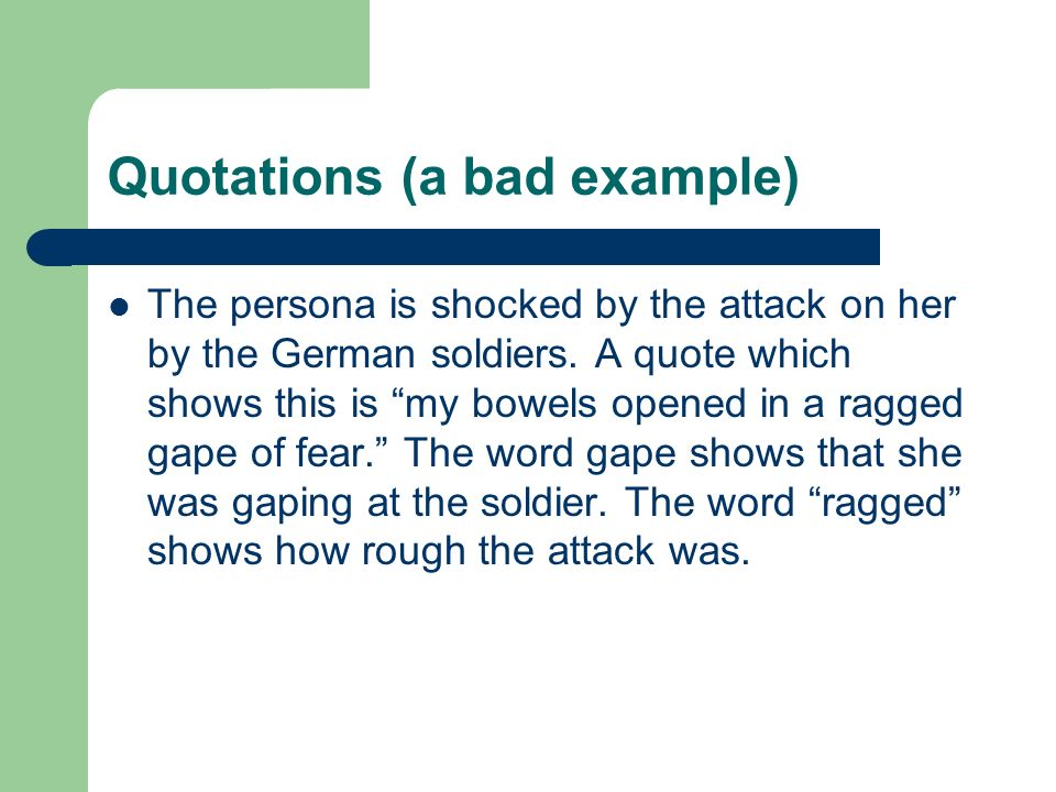 Quotations (a bad example)