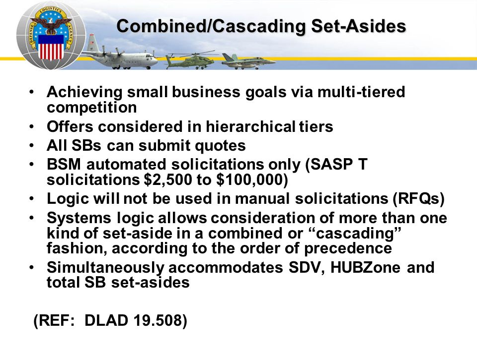 Combined/Cascading Set-Asides