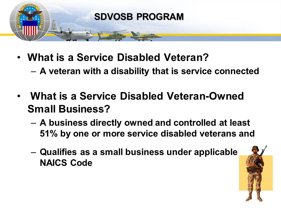 Auto IDPOs What is a Service Disabled Veteran