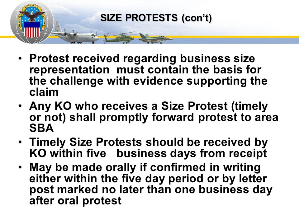 Auto IDPOs SIZE PROTESTS (con't)