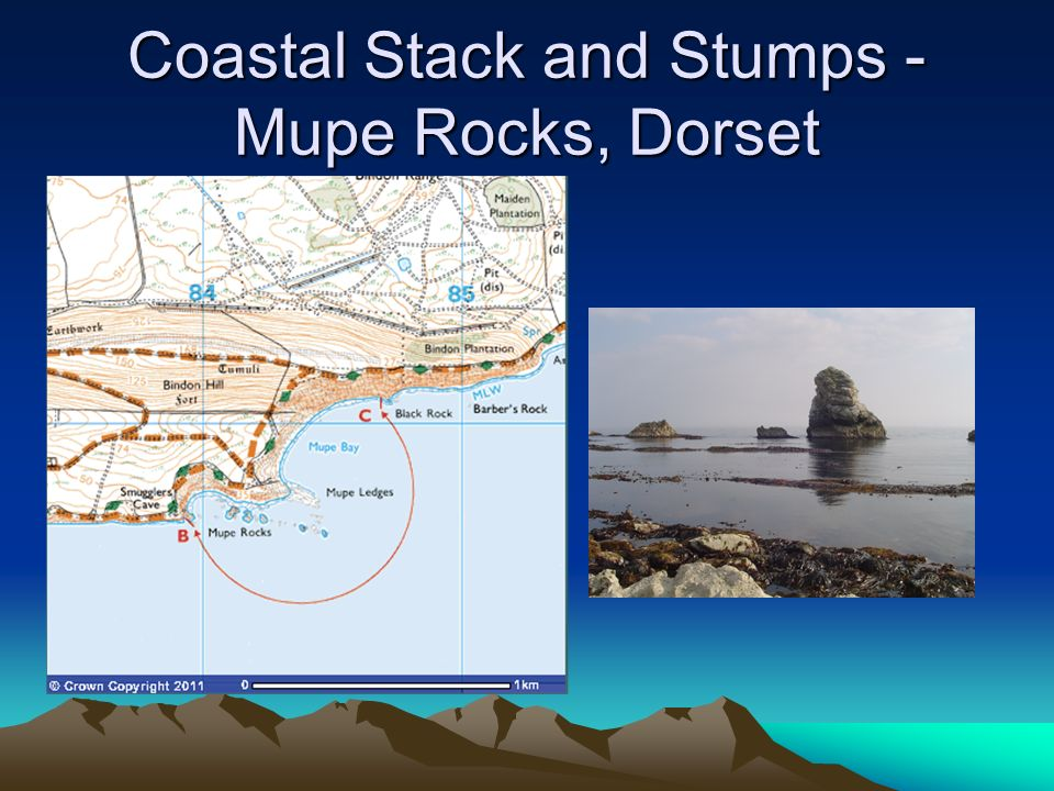 Coastal Stack and Stumps - Mupe Rocks, Dorset