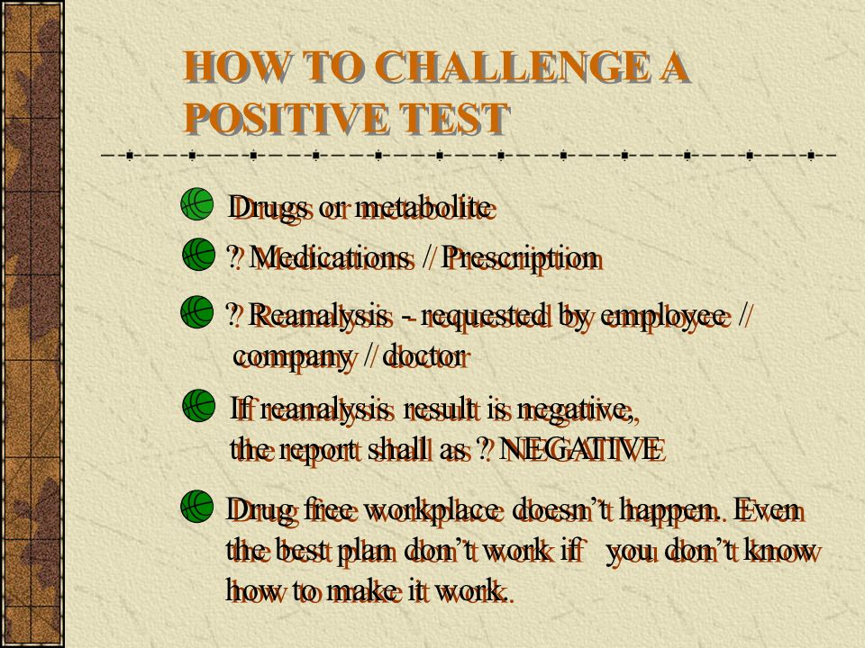 HOW TO CHALLENGE A POSITIVE TEST