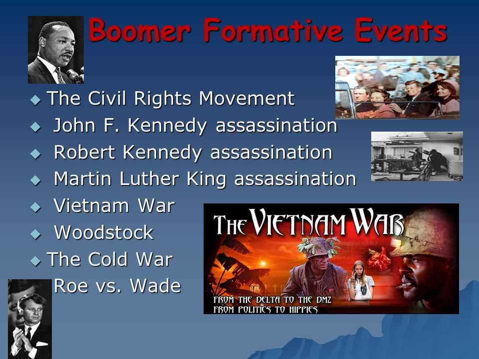 Boomer Formative Events