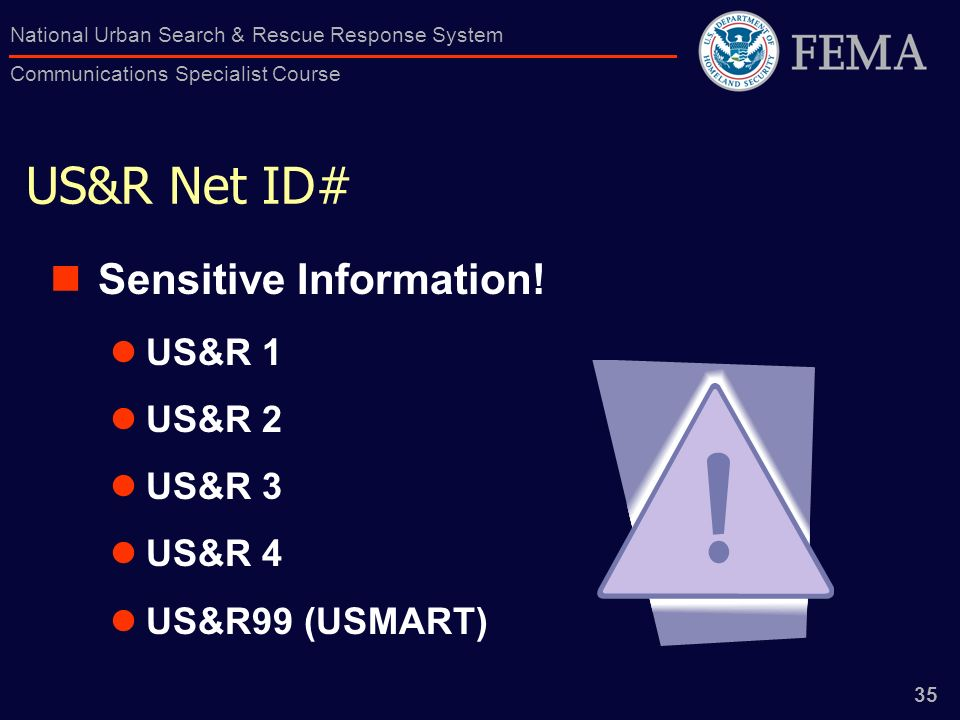 US&R Net ID# Sensitive Information! US&R 1 US&R 2 US&R 3 US&R 4