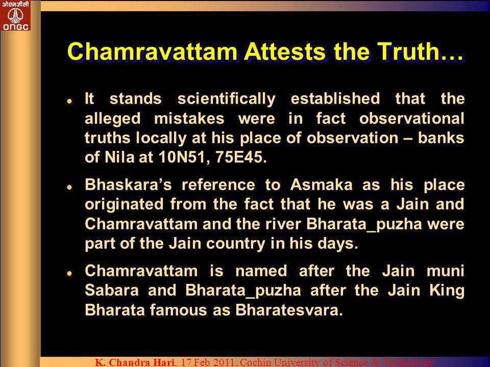 Chamravattam Attests the Truth…