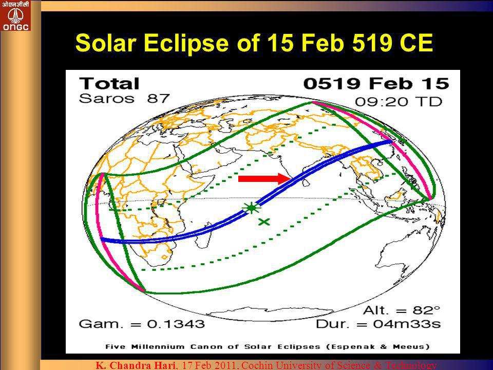 Solar Eclipse of 15 Feb 519 CE