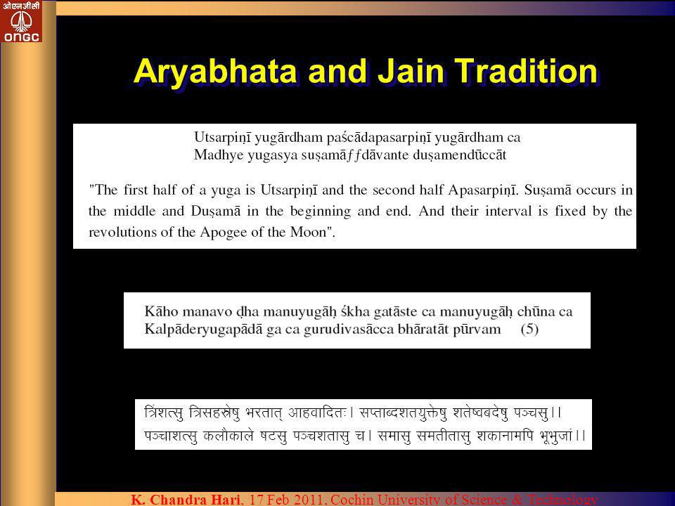 Aryabhata and Jain Tradition