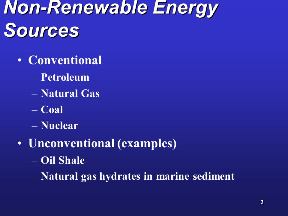 Energy Resources Renewable And Nonrenewable Ppt Video Online Download